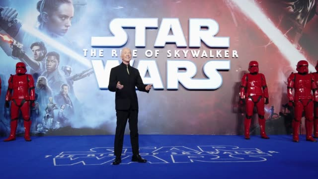 anthony daniels attends star wars the rise of skywalker european premiere at cineworld leicester square on december 18 2019 in london england - star wars stock videos & royalty-free footage