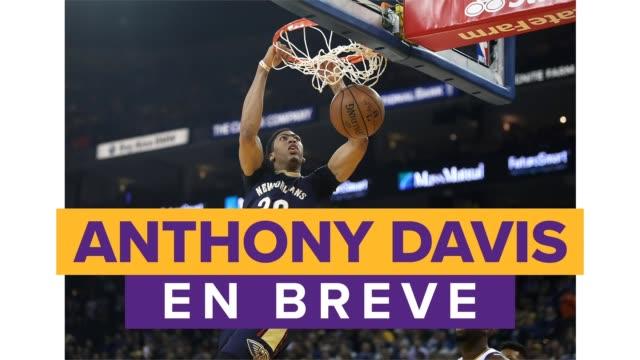 anthony davis es un jugador profesional de baloncesto que juega en la posición de alero para los lakers de los angeles en la nba la historia en breve... - basketball sport stock videos & royalty-free footage