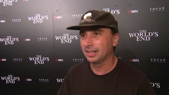 interview anthony ferrante on sharknato on it's success and on attending comiccon at ign focus features celebrate the world's end party at comiccon... - 2013 stock-videos und b-roll-filmmaterial