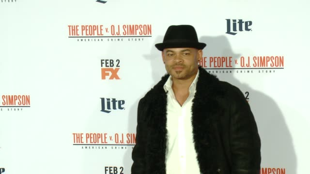 anthony hemingway at fx's the people v oj simpson american crime story premiere at westwood village theatre on january 27 2016 in westwood california - westwood village stock-videos und b-roll-filmmaterial