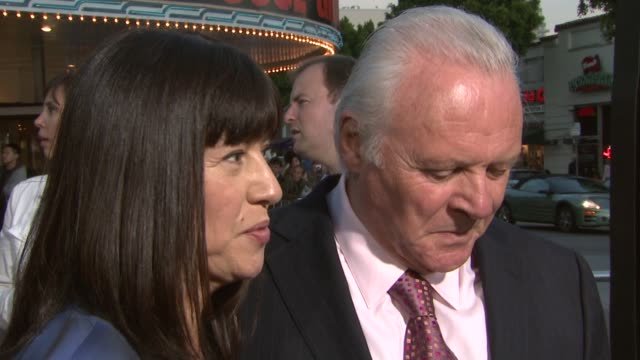 Anthony Hopkins and his wife at the 'Fracture' Premiere at the Mann Village Theatre in Westwood California on April 11 2007