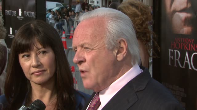 anthony hopkins and his wife at the 'fracture' premiere at the mann village theatre in westwood california on april 11 2007 - anthony hopkins stock videos & royalty-free footage