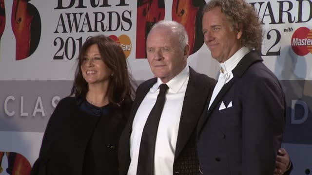 anthony hopkins andre rieu at classic brit awards 2012 at royal albert hall on october 02 2012 in london england - andre rieu stock videos & royalty-free footage
