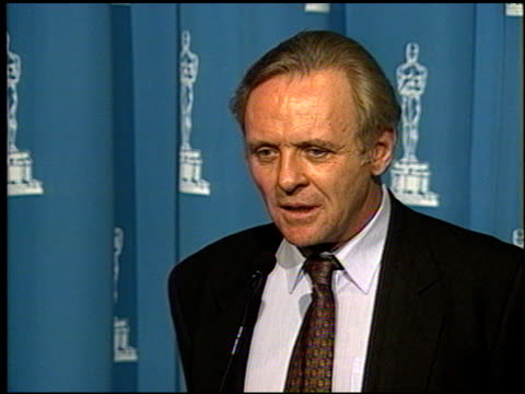 Anthony Hopkins at the 1992 Academy Awards Luncheon at the Beverly Hilton in Beverly Hills California on March 17 1992