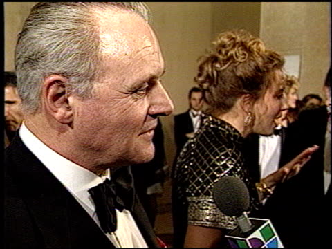anthony hopkins at the 1993 golden globe awards at the beverly hilton in beverly hills california on january 23 1993 - anthony hopkins stock videos & royalty-free footage