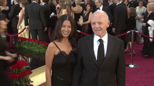 anthony hopkins at the 81st academy awards arrivals part 2 at los angeles ca - anthony hopkins stock videos & royalty-free footage