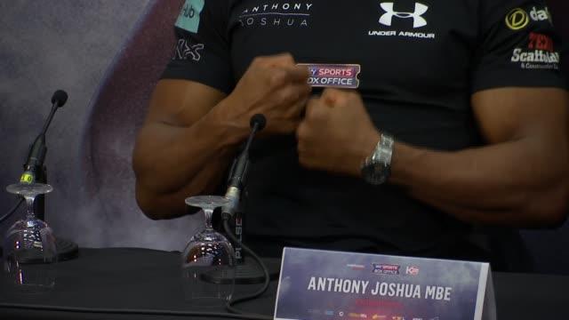 Anthony Joshua and Wladimir Klitschko press conference and interviews Wladimir Klitschko Anthony Joshua Eddie Hearn press conference SOT