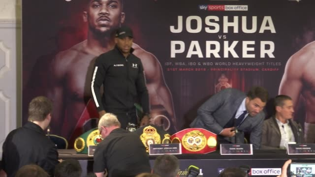 Anthony Joshua announces world title fight with Joseph Parker ENGLAND London PHOTOGRAPHY*** Anthony Joshua along as arriving for press conference...
