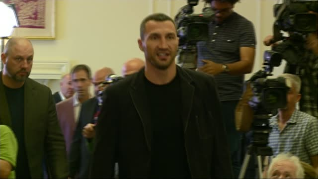 Anthony Joshua hoping to fight Wladimir Klitschko in Spring 2017 1292016 / R12091605 Wladimir Klitschko into press conference