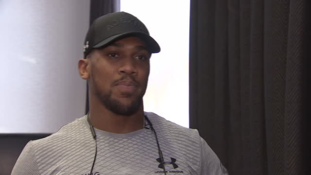 anthony joshua talking about why the time is right to make his us debut against jarrell miller in madison square garden - anthony joshua boxer stock videos & royalty-free footage