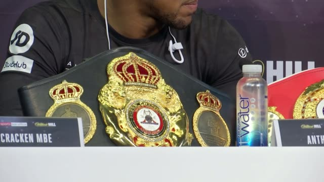 Anthony Joshua to fight Carlos Takam in Cardiff Anthony Joshua interview SOT Various shots press conference Anthony Joshua interview SOT CUTAWAY...