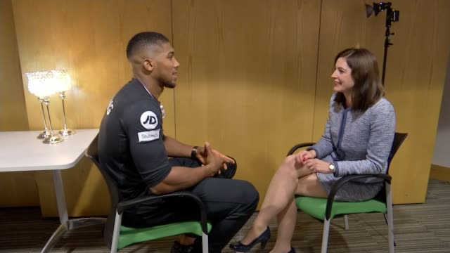 Anthony Joshua to fight Carlos Takam in Cardiff WALES Cardiff Anthony Joshua interview SOT