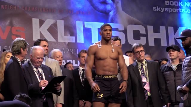 Anthony Joshua weighed a careerheaviest 17st 12lbs 10oz as he dismissed as a 'lie' challenger Wladimir Klitschko's claim the reason their Wembley...
