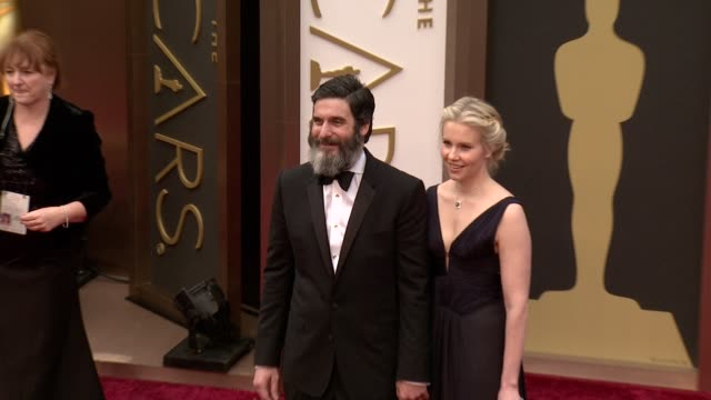 anthony katagas and guest - 86th annual academy awards - arrivals at hollywood & highland center on march 02, 2014 in hollywood, california. - hollywood and highland center stock videos & royalty-free footage