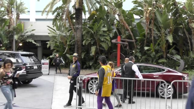 Anthony Kiedis at Lakers vs Cavs Game at Staples Center in Los Angeles in Celebrity Sightings in Los Angeles