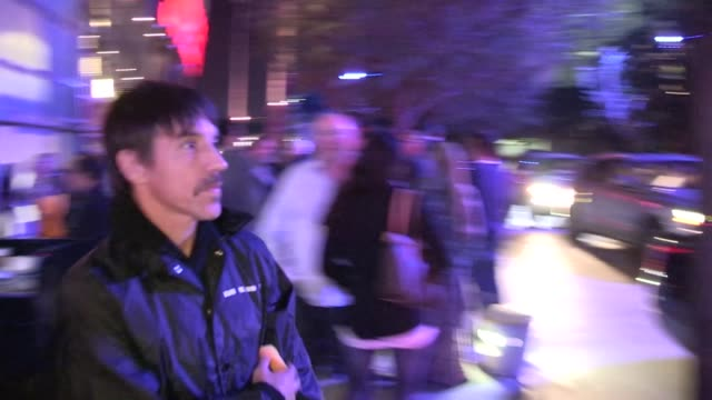 Anthony Kiedis departs Staples Center in Los Angeles 02/14/13
