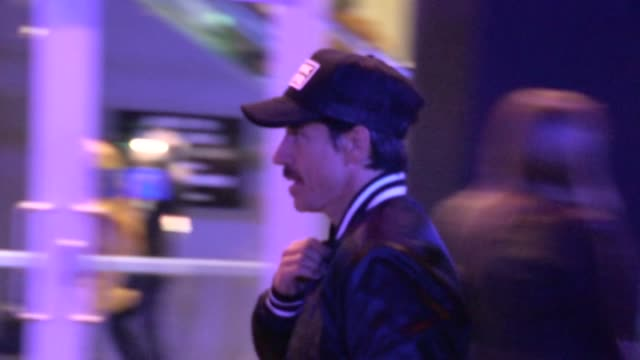 Anthony Kiedis departs the Laker Game at Staples Center in Los Angeles 03/17/13