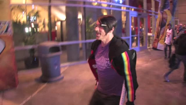 Anthony Kiedis leaving Staples Center 02/20/12