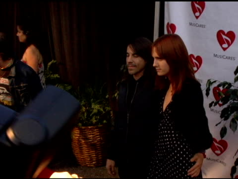Anthony Kiedis of the Red Hot Chili Peppers and Heather at the 2nd Annual Musicares Map Fund Benefit Concert at the Henry Fonda Theater in Hollywood...
