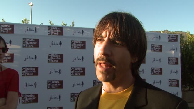 Anthony Kiedis on being there to support the Boys and Girls Clubs on Earth Day at the Malibu Lumber Yard Opening at Malibu CA