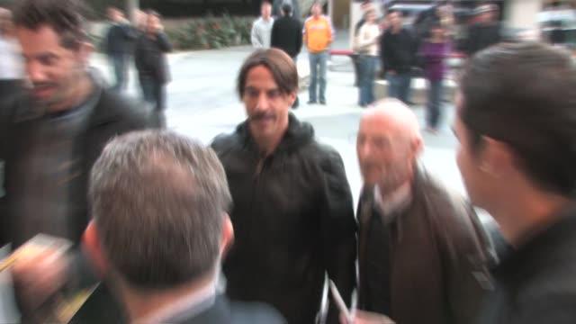 Anthony Kiedis outside Staples Center on 4/12/11