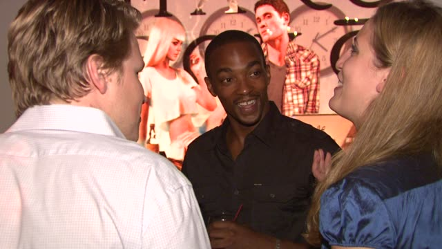 anthony mackie and guests at the marc ecko cut & sew fall campaign launch with digital muse lindsay lohan at new york ny. - marc ecko stock videos & royalty-free footage