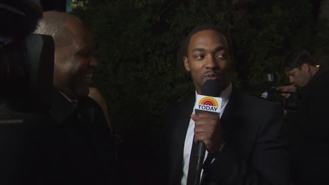anthony mackie at the 2011 vanity fair oscar party arrivals at hollywood ca - vanity fair oscar party stock videos & royalty-free footage
