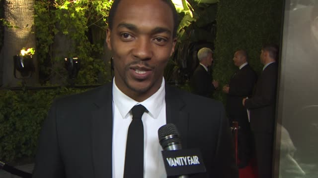 anthony mackie on the vanity fair oscar party at the 2011 vanity fair oscar party arrivals at hollywood ca - vanity fair oscar party stock videos & royalty-free footage