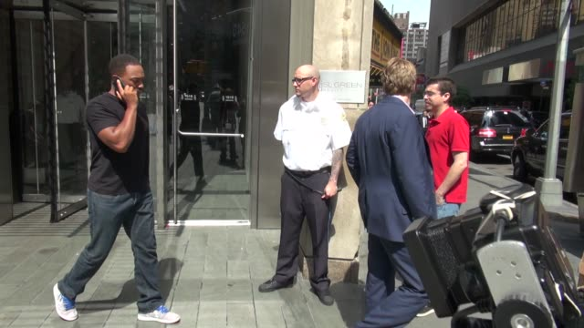 anthony mackie outside the vh1 studio anthony mackie outside the vh1 studio on june 18 2012 in new york new york - vh1 stock videos & royalty-free footage