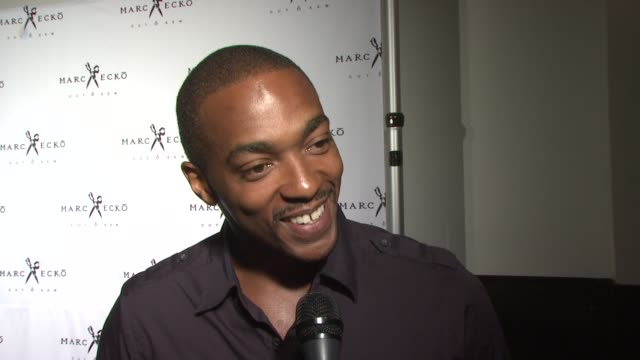 anthony mackie speaks about the opening of the new marc ecko store and ecko's choosing lindsay lohan as the new muse at the marc ecko cut sew fall... - marc ecko stock videos & royalty-free footage