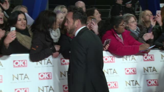 stockvideo's en b-roll-footage met anthony mcpartlin at the o2 arena on january 25 2017 in london england - ant mcpartlin