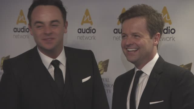 stockvideo's en b-roll-footage met anthony mcpartlin declan donnelly at royal television society programme awards at grosvenor house on march 22 2016 in london england - ant mcpartlin
