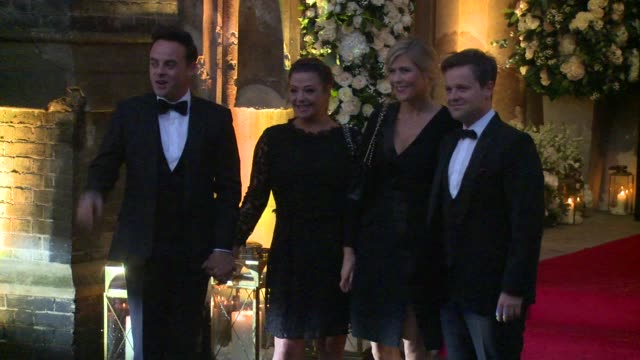 stockvideo's en b-roll-footage met anthony mcpartlin declan donnelly at st paul's church on december 20 2015 in london england - ant mcpartlin