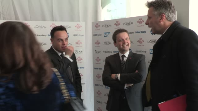 stockvideo's en b-roll-footage met anthony mcpartlin declan donnelly at the prince's trust and l'oreal paris celebrate success awards at odeon leicester square on march 14 2012 in... - declan donnelly