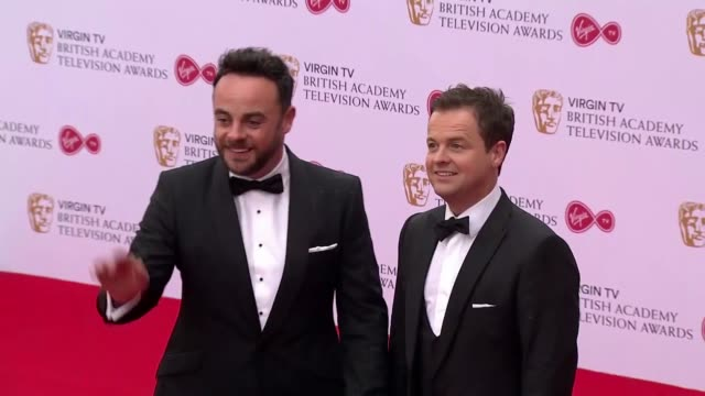 anthony mcpartlin declan donnelly at the royal festival hall on may 14 2017 in london england - british academy television awards stock videos & royalty-free footage