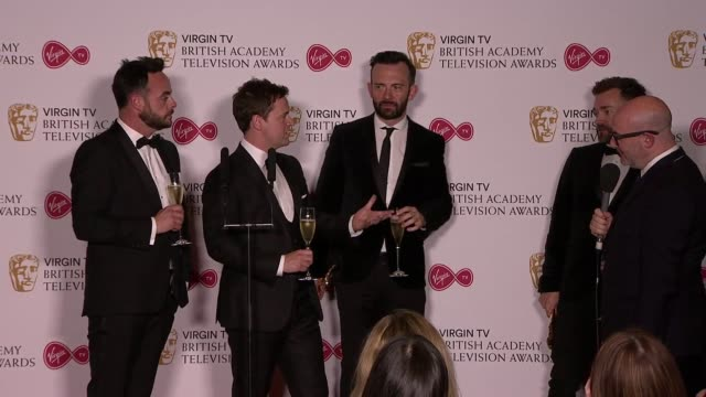 speech anthony mcpartlin declan donnelly at the royal festival hall on may 14 2017 in london england - royal festival hall stock videos & royalty-free footage