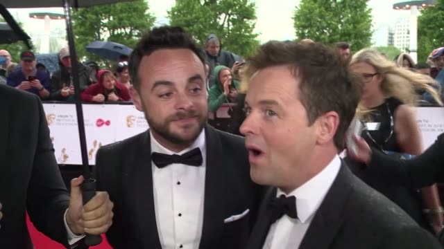 stockvideo's en b-roll-footage met interview anthony mcpartlin declan donnelly on being nominated and the chances of winning at the royal festival hall on may 14 2017 in london england - ant mcpartlin