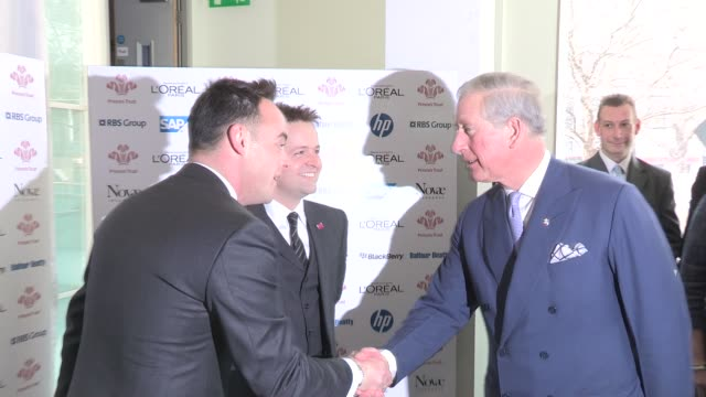 stockvideo's en b-roll-footage met anthony mcpartlin declan donnelly prince charles at the prince's trust and l'oreal paris celebrate success awards at odeon leicester square on march... - declan donnelly