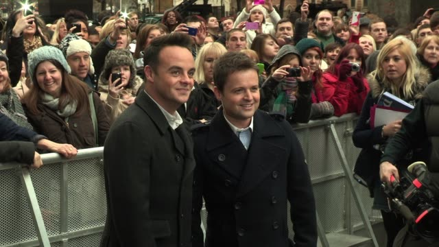 anthony mcpartlin & declan donnelly sighted outside the hammersmith apollo as the london leg of auditions for 'britain's got talent' starts. sighted:... - britain's got talent stock-videos und b-roll-filmmaterial