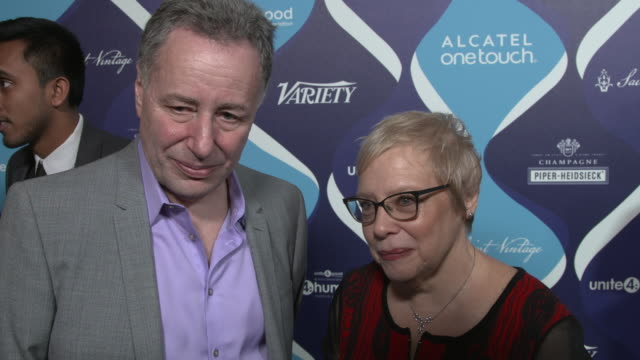 interview anthony melikhov and dr leslie morrison faerstien on what the night represents for their organization how they selected tonight's honorees... - オスカーパーティー点の映像素材/bロール