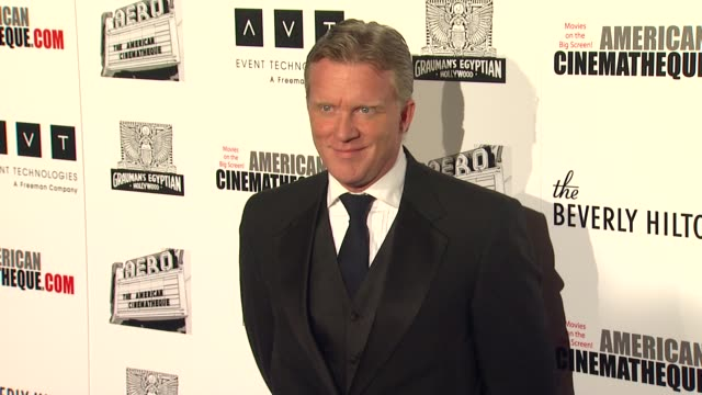 vídeos de stock, filmes e b-roll de anthony michael hall at the the 25th annual american cinematheque award honoring robert downey jr at beverly hills ca - anthony michael hall