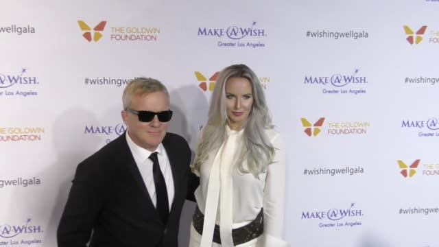 vídeos de stock, filmes e b-roll de anthony michael hall lucia oskerova at the 4th annual wishing well winter gala presented by makeawish greater los angeles at hollywood palladium on... - anthony michael hall
