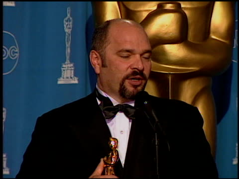 Anthony Minghella at the 1997 Academy Awards Governor's Ball at the Shrine Auditorium in Los Angeles California on March 24 1997