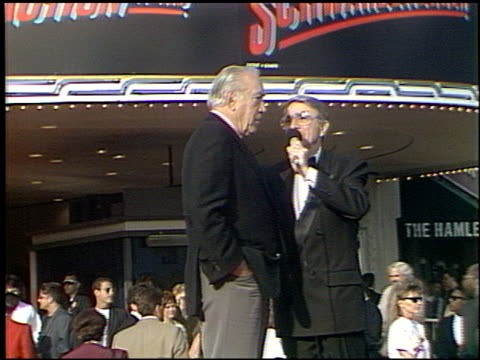 anthony quinn at the 'last action hero' premiere on june 13, 1993. - westwood neighborhood los angeles stock videos & royalty-free footage