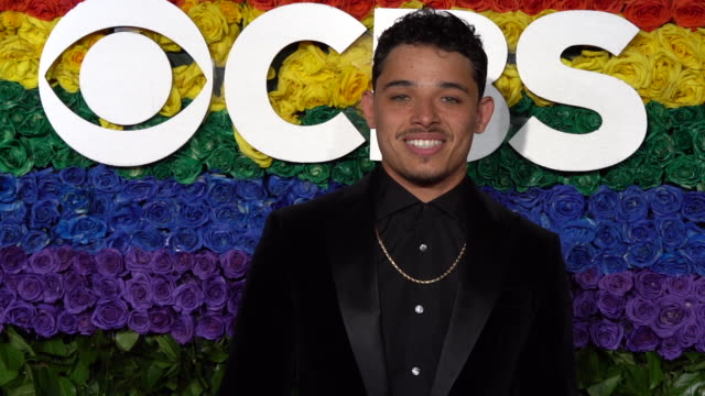 anthony ramos at the 73rd annual tony awards - arrivals at radio city music hall on june 09, 2019 in new york city. - radio city music hall stock videos & royalty-free footage