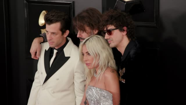 vidéos et rushes de anthony rossomando lady gaga andrew wyatt and mark ronson at the 61st grammy awards arrivals at staples center on february 10 2019 in los angeles... - grammy awards