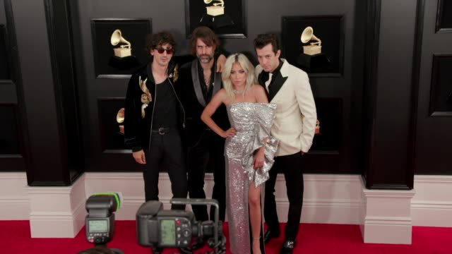 anthony rossomando, lady gaga, andrew wyatt and mark ronson at the 61st grammy awards - arrivals at staples center on february 10, 2019 in los... - grammy awards stock-videos und b-roll-filmmaterial