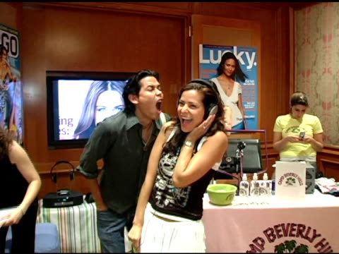 anthony ruivivar and constance marie at the 2nd annual lucky/cargo club celebration of upfront week on may 18, 2005. - anthony ruivivar stock videos & royalty-free footage