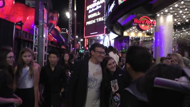 anthony russo outside the spider-man far from home premiere at tcl chinese theatre in hollywood in celebrity sightings in los angeles, - tcl chinese theatre stock videos & royalty-free footage