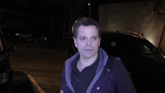 interview anthony scaramucci comments on vanessa trump's white powder scare in west hollywood in celebrity sightings in los angeles - vanessa haydon stock-videos und b-roll-filmmaterial